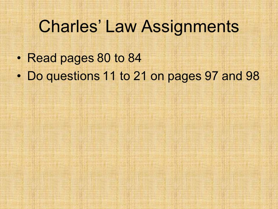 Charles' Law Assignments