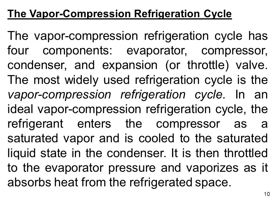 The Vapor-Compression Refrigeration Cycle
