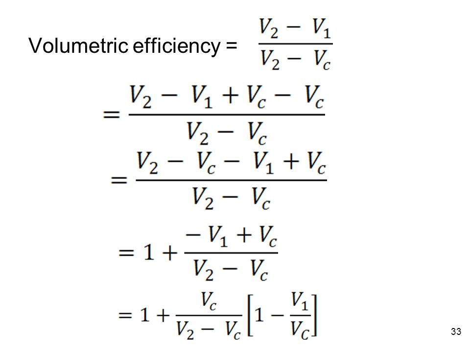 Volumetric efficiency =