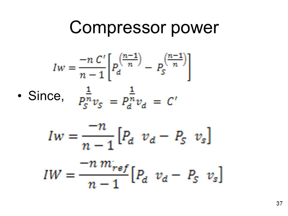 Compressor power Since,