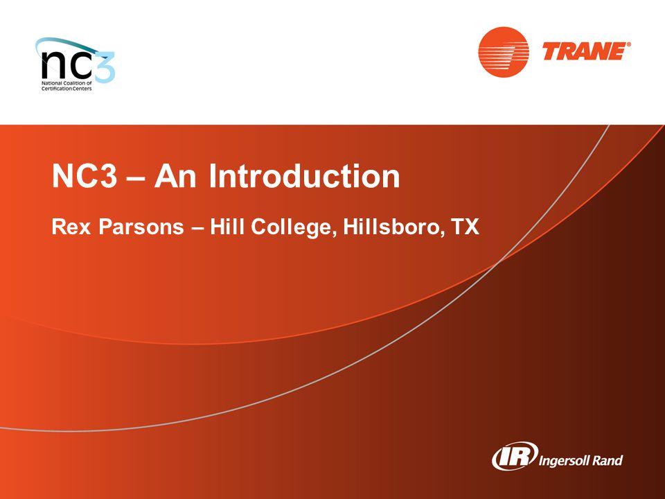 Rex Parsons – Hill College, Hillsboro, TX