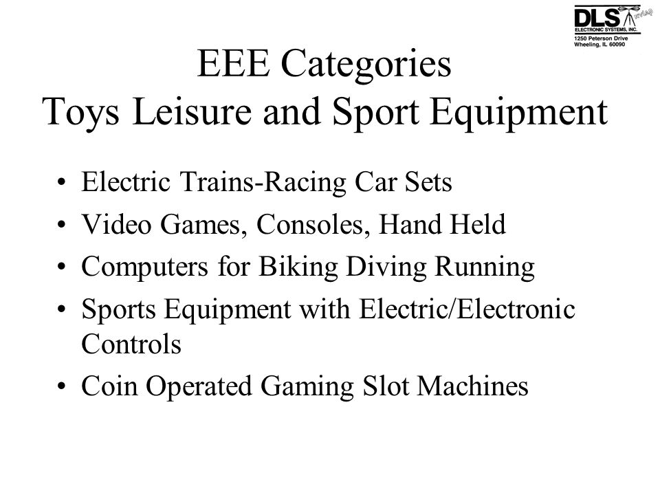 EEE Categories Toys Leisure and Sport Equipment