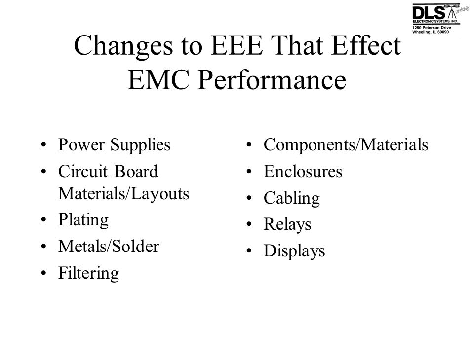 Changes to EEE That Effect EMC Performance