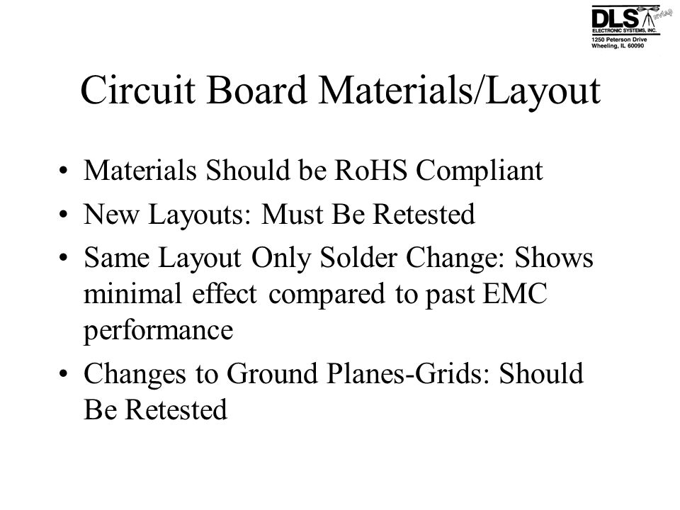 Circuit Board Materials/Layout