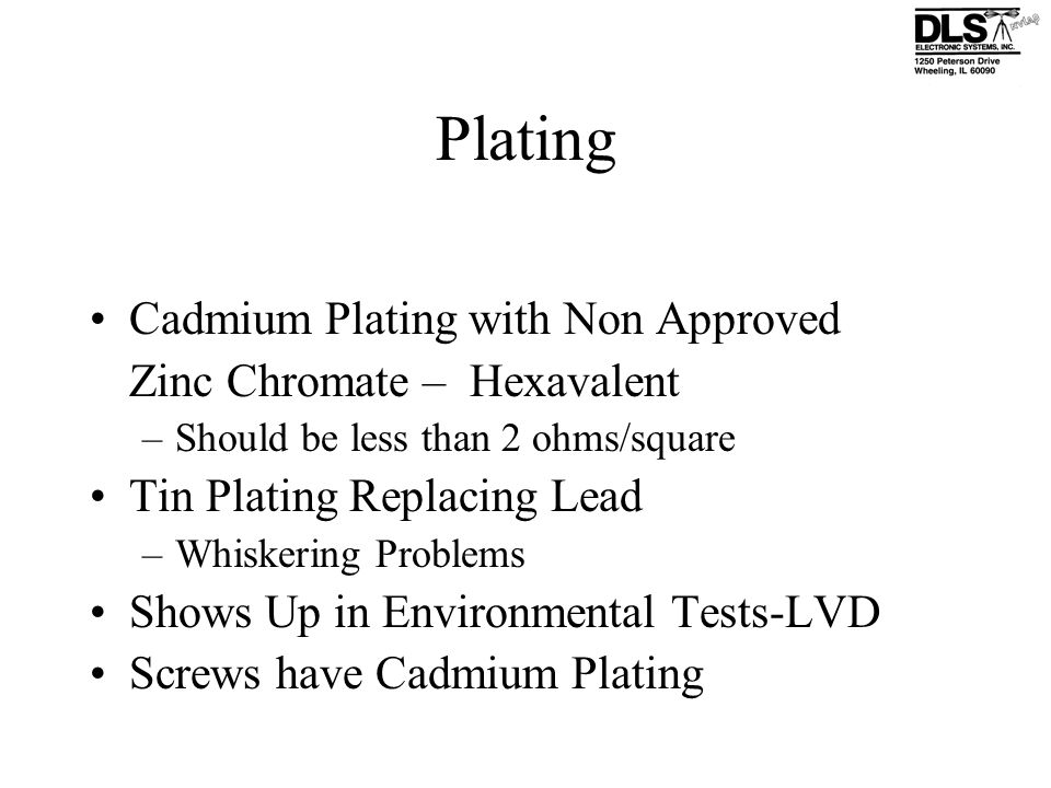 Plating Cadmium Plating with Non Approved Zinc Chromate – Hexavalent