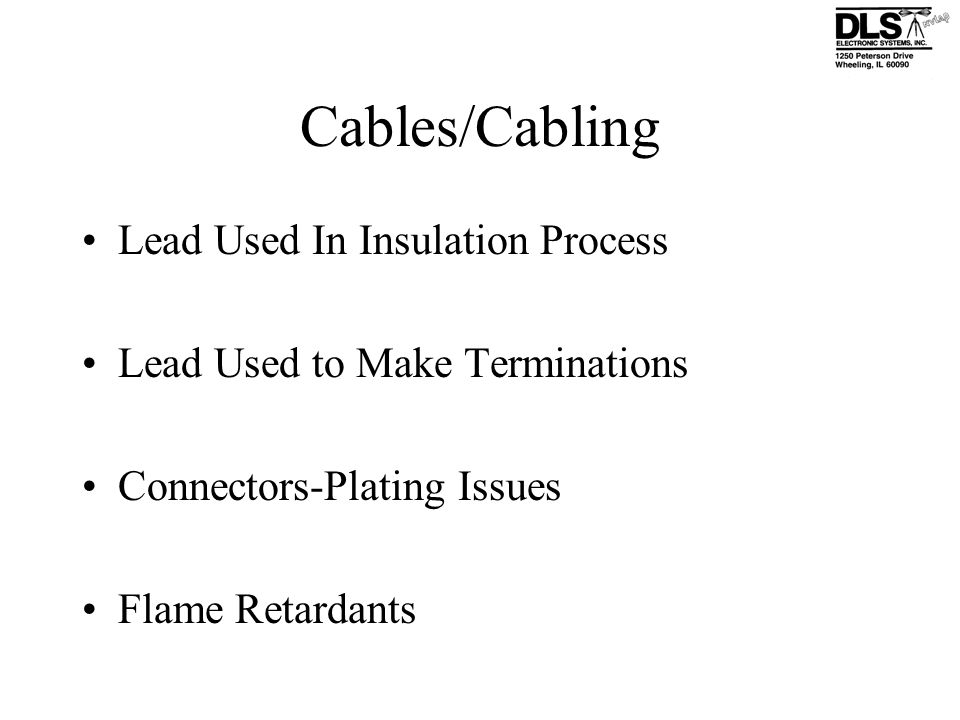 Cables/Cabling Lead Used In Insulation Process