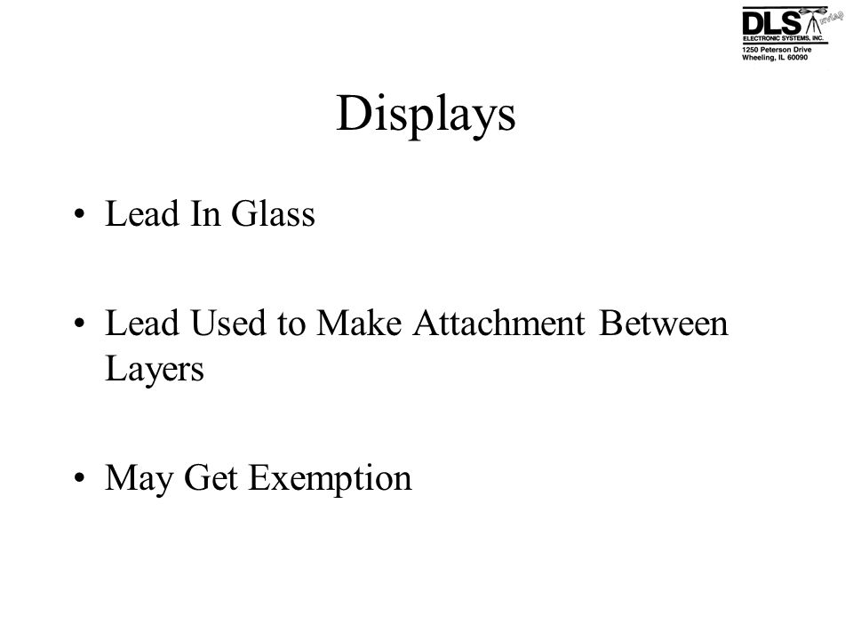 Displays Lead In Glass Lead Used to Make Attachment Between Layers