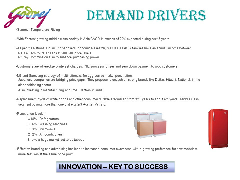 DEMAND DRIVERS INNOVATION – KEY TO SUCCESS 4 Summer Temperature Rising