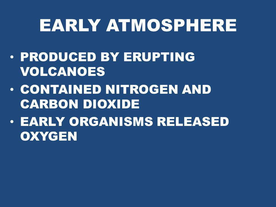 EARLY ATMOSPHERE PRODUCED BY ERUPTING VOLCANOES