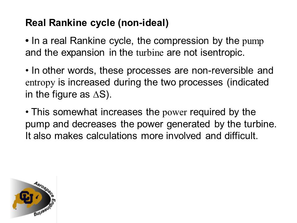 Real Rankine cycle (non-ideal)