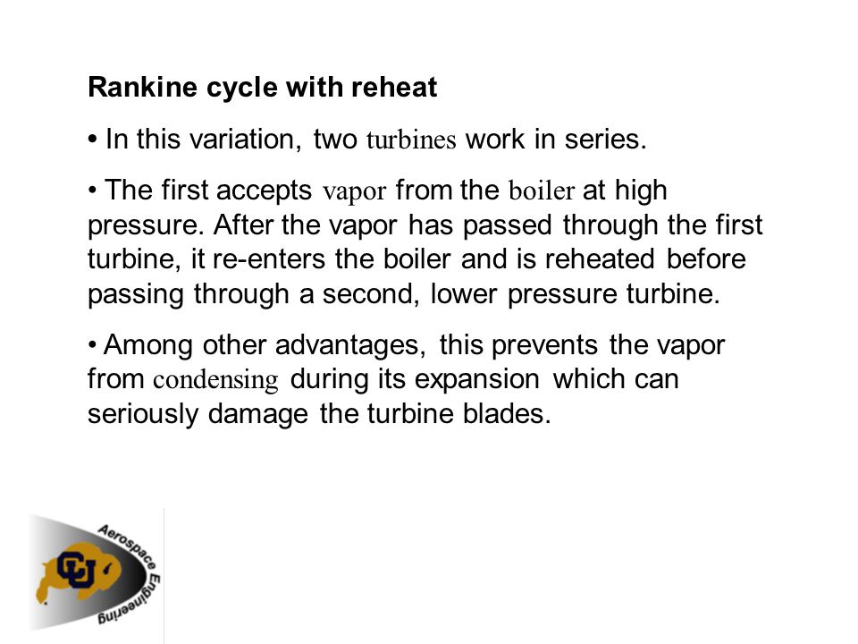 Rankine cycle with reheat
