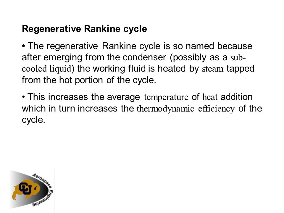 Regenerative Rankine cycle