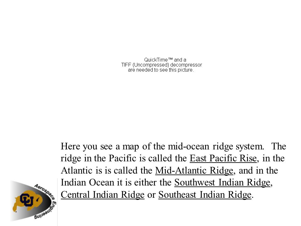 Here you see a map of the mid-ocean ridge system