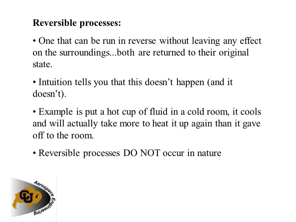 Reversible processes: