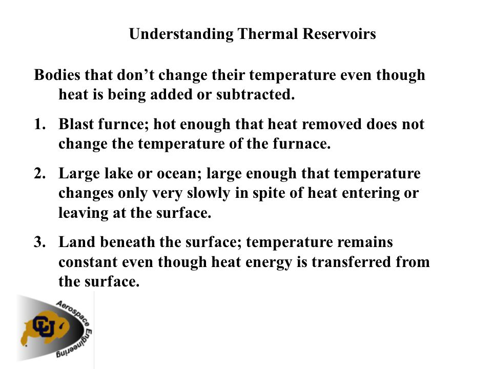 Understanding Thermal Reservoirs