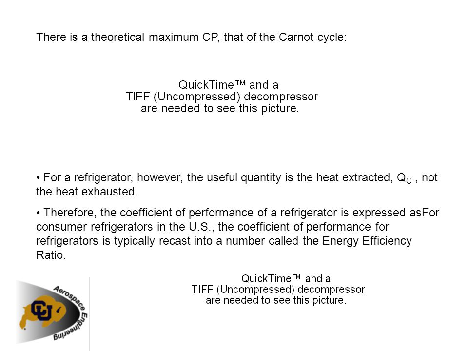 There is a theoretical maximum CP, that of the Carnot cycle: