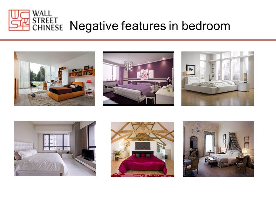 Negative features in bedroom