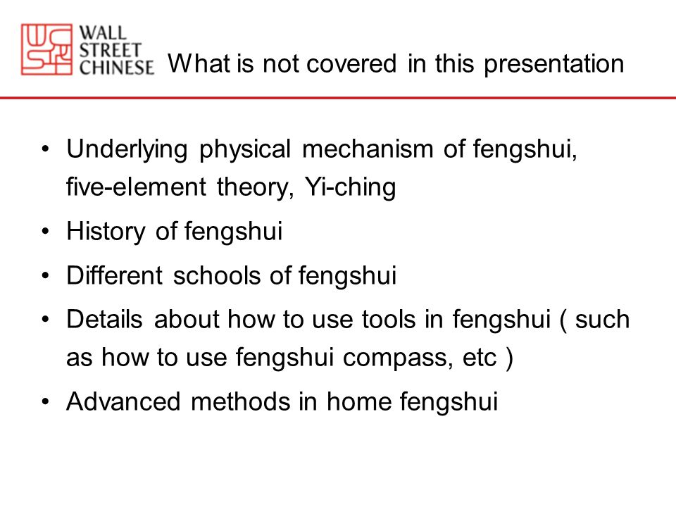 What is not covered in this presentation