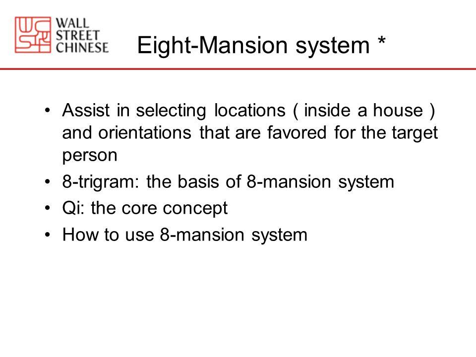 Eight-Mansion system *