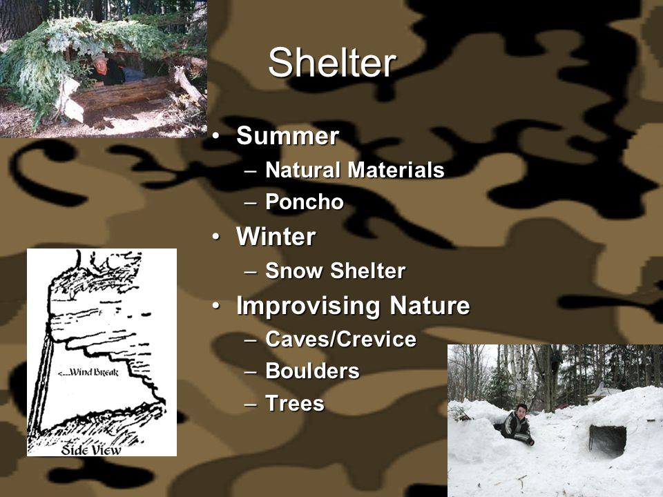 Shelter Summer Winter Improvising Nature Natural Materials Poncho
