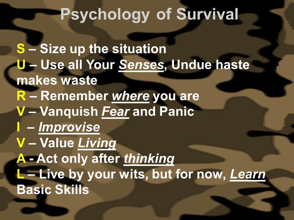 Psychology of Survival