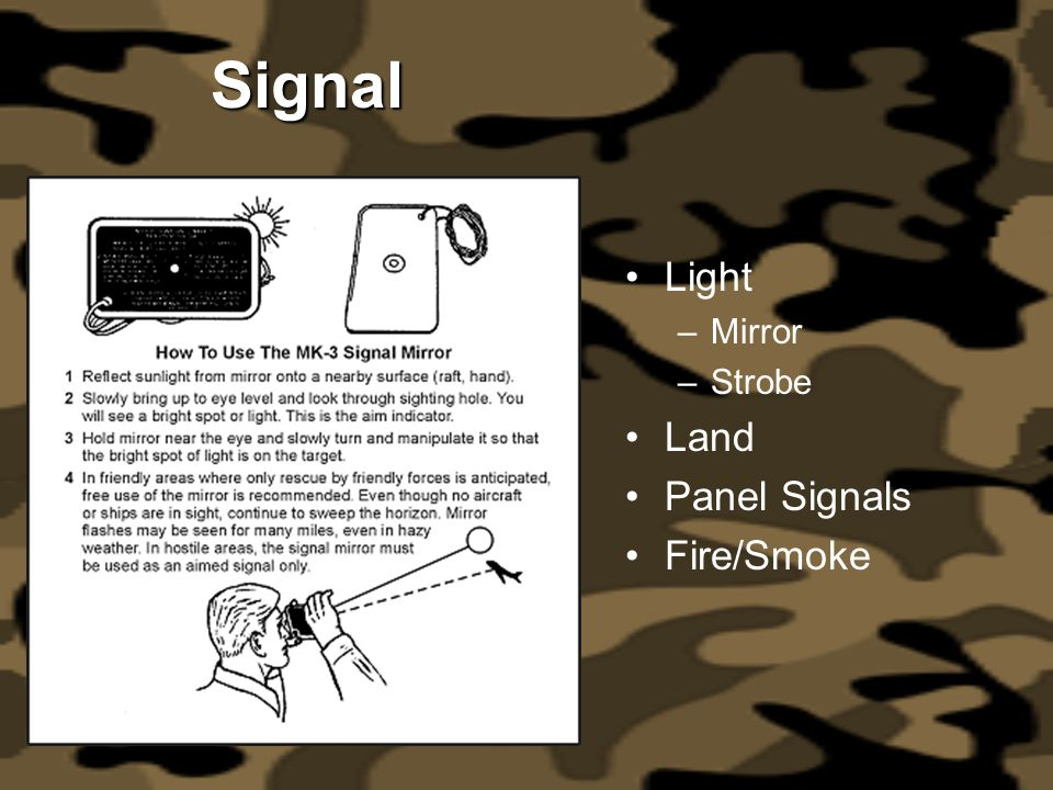 Signal Light Mirror Strobe Land Panel Signals Fire/Smoke