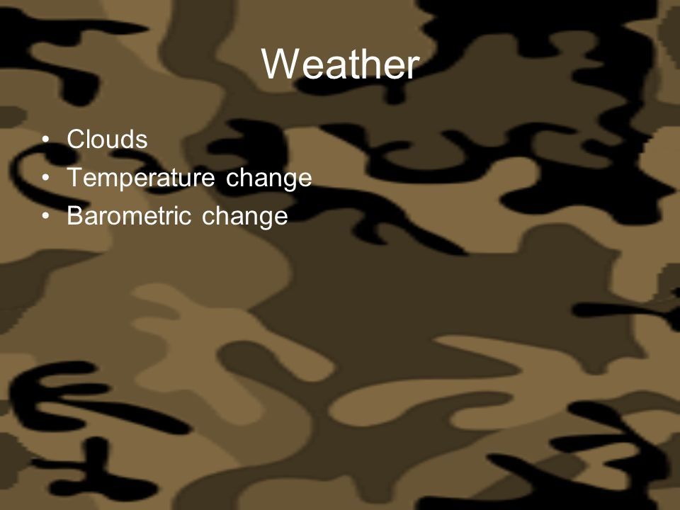 Weather Clouds Temperature change Barometric change