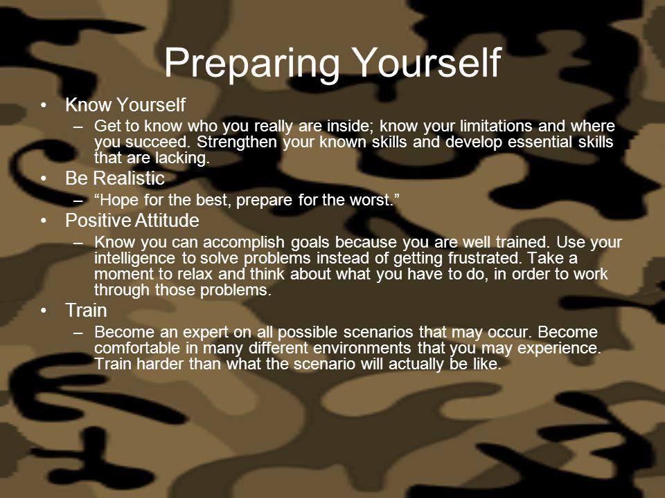 Preparing Yourself Know Yourself Be Realistic Positive Attitude Train