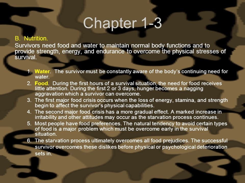 Chapter 1-3 Nutrition.