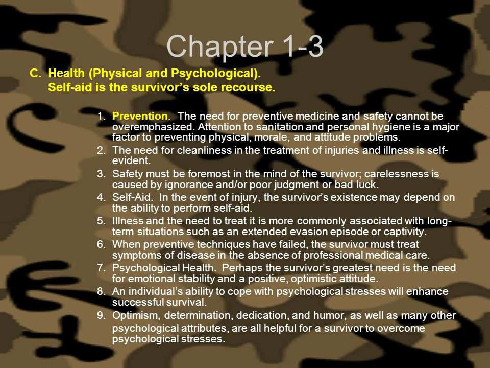 Chapter 1-3 Health (Physical and Psychological).
