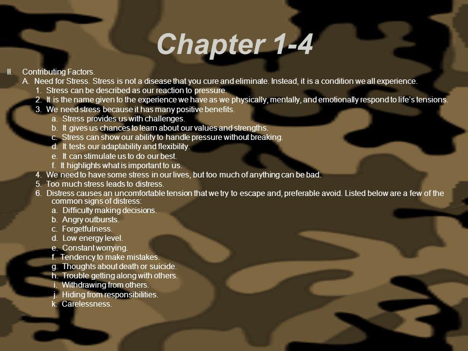 Chapter 1-4 II. Contributing Factors.