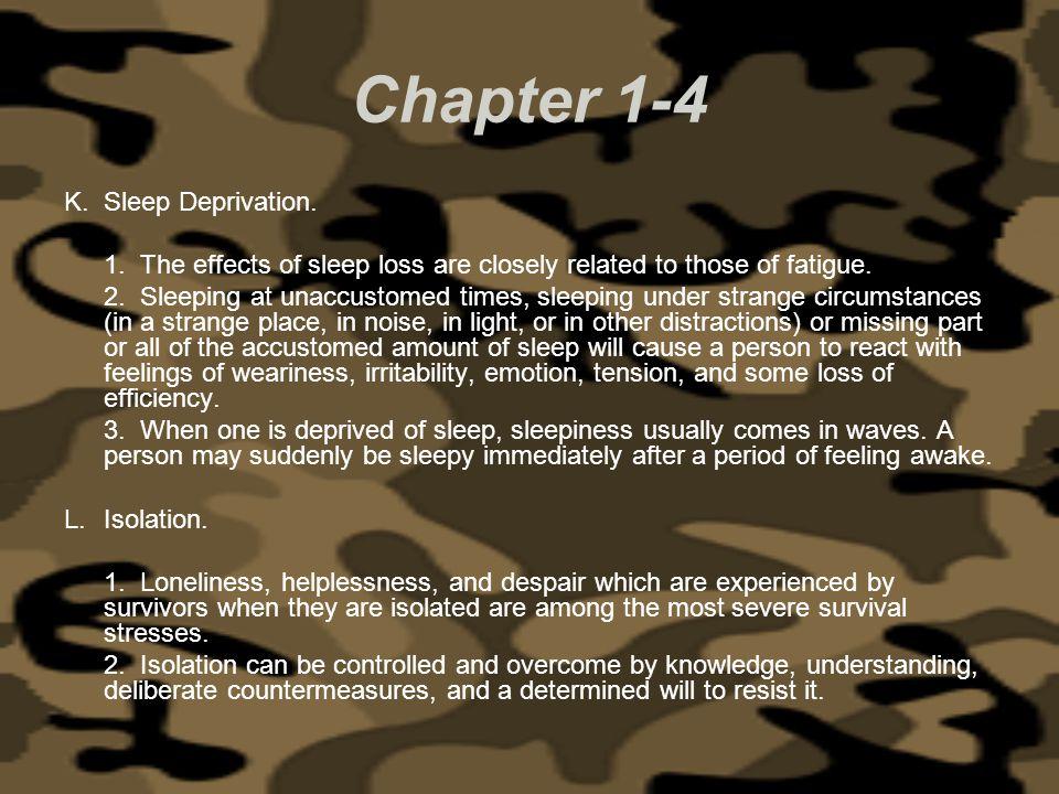 Chapter 1-4 Sleep Deprivation.