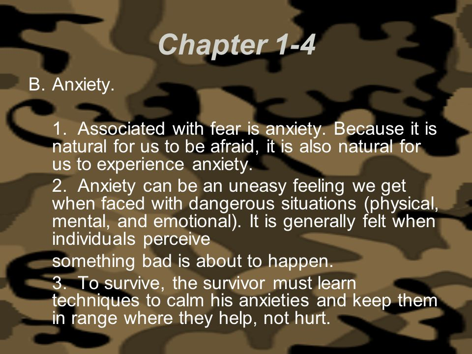 Chapter 1-4 Anxiety.