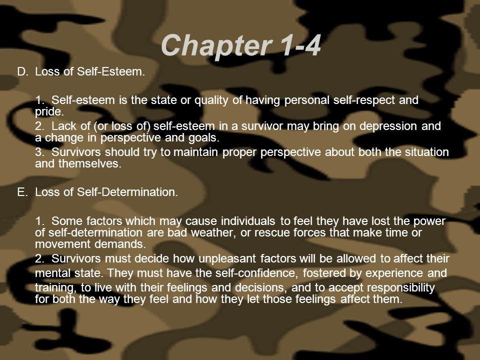 Chapter 1-4 Loss of Self-Esteem.