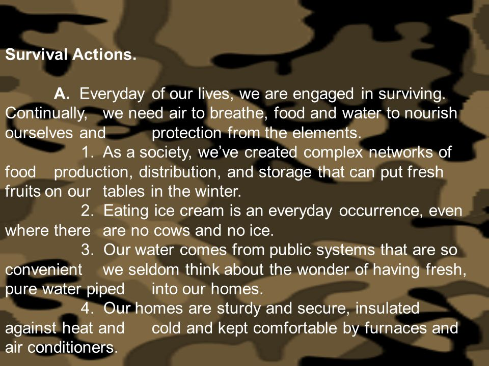 Survival Actions.