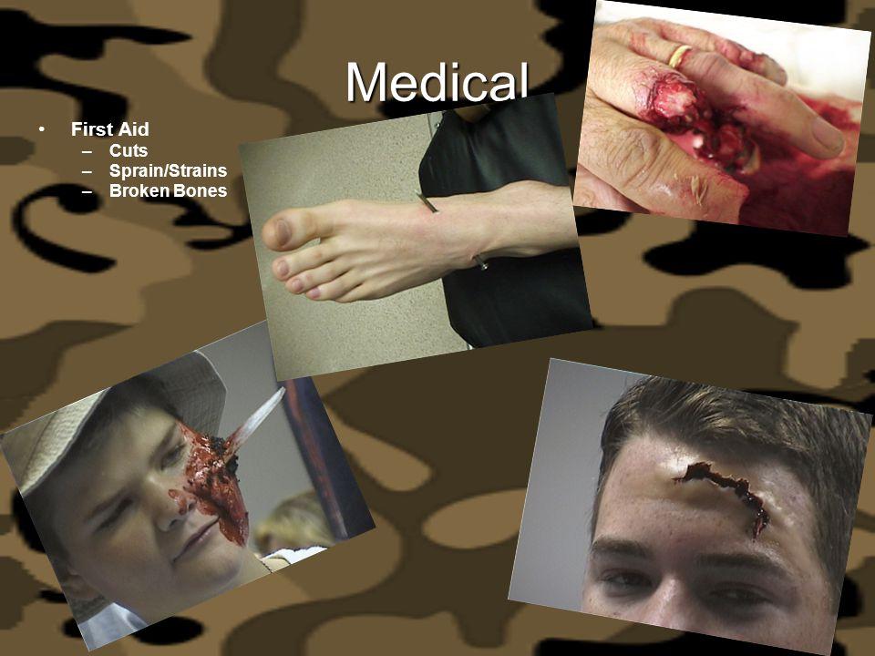 Medical First Aid Cuts Sprain/Strains Broken Bones