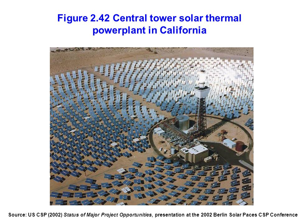 Figure 2.42 Central tower solar thermal powerplant in California