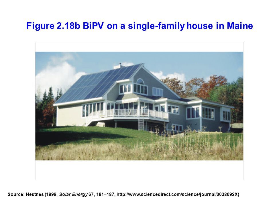 Figure 2.18b BiPV on a single-family house in Maine