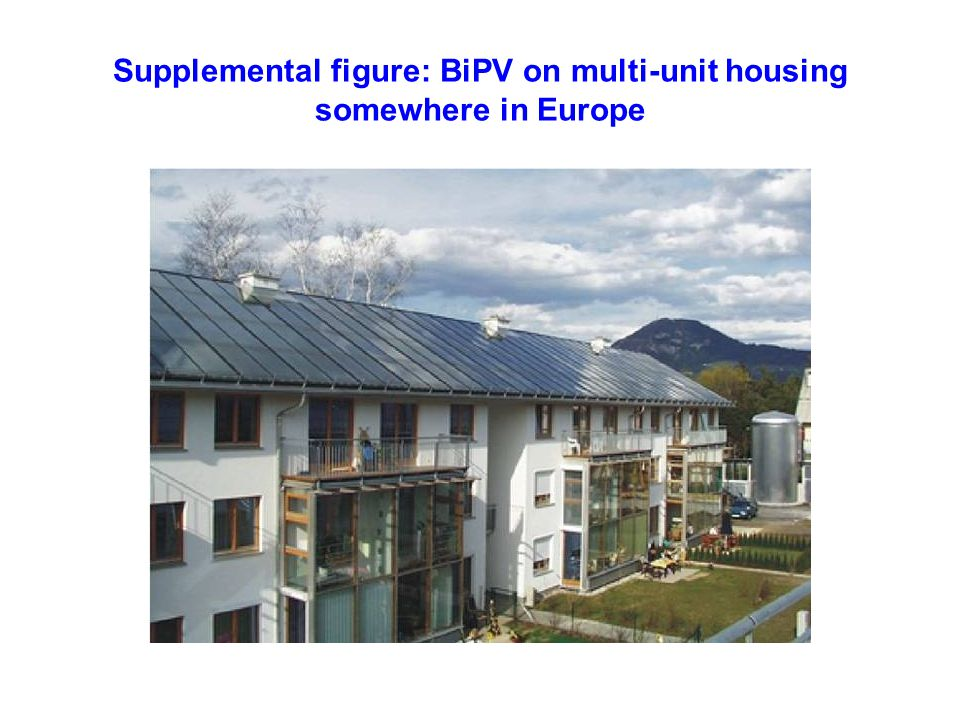 Supplemental figure: BiPV on multi-unit housing somewhere in Europe