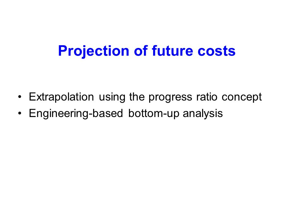 Projection of future costs