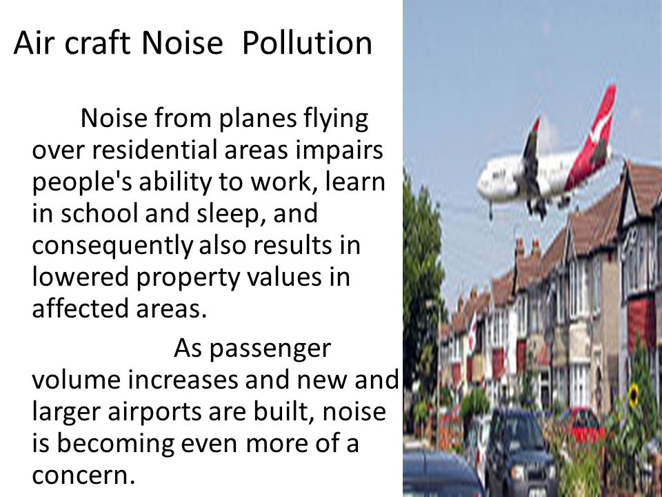 Air craft Noise Pollution