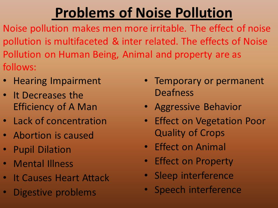 """an introduction to the issue of noise pollution The contribution of rail transport to noise pollution is significant, 10% of people  being exposed to noise levels exceeding the """"serious."""