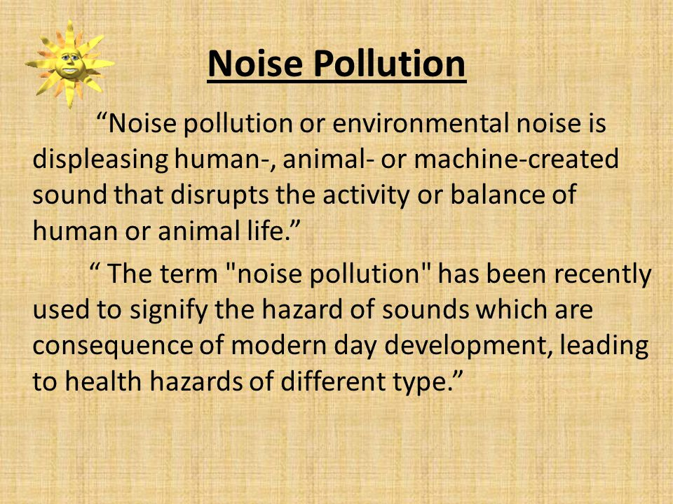 articles on noise pollution