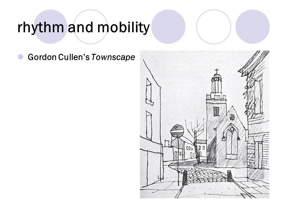 rhythm and mobility Gordon Cullen's Townscape