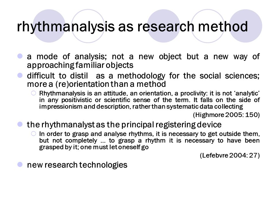 rhythmanalysis as research method