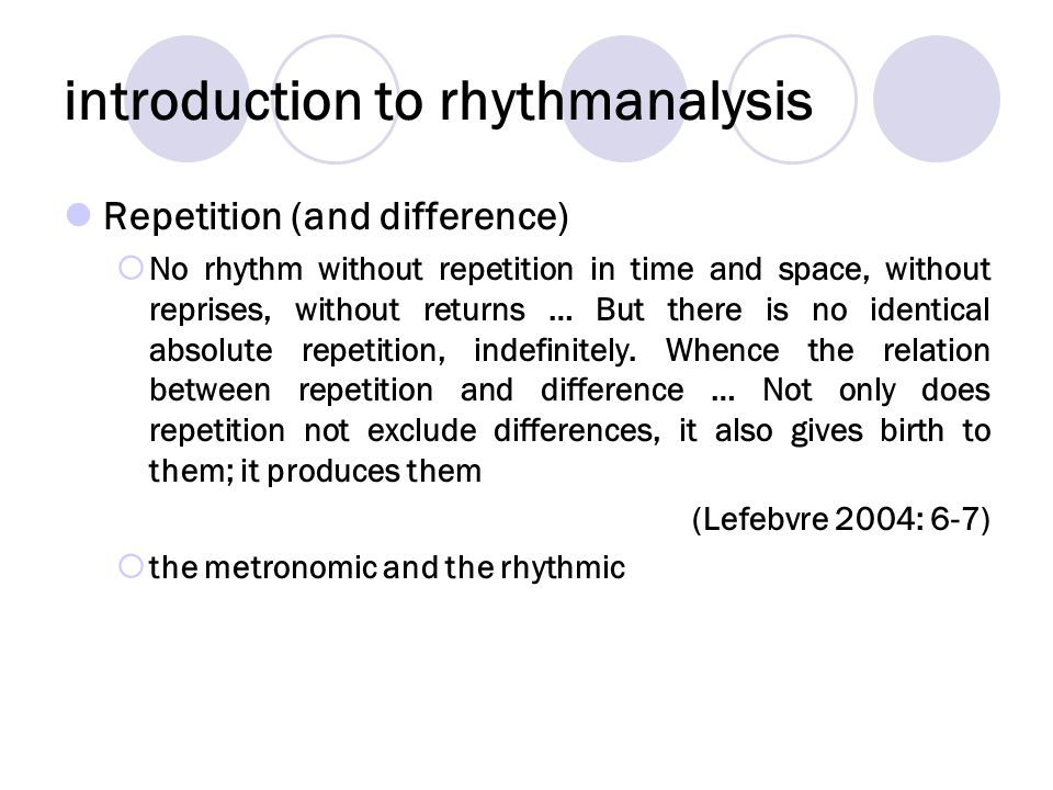 introduction to rhythmanalysis