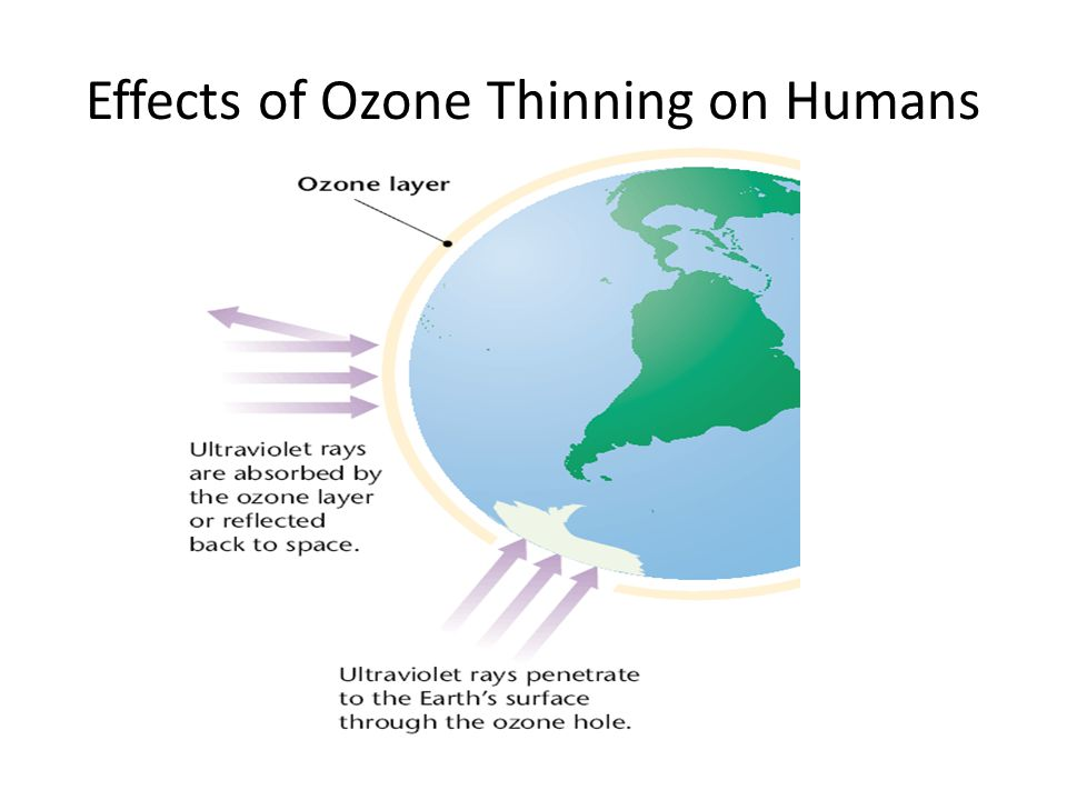 Effects of Ozone Thinning on Humans