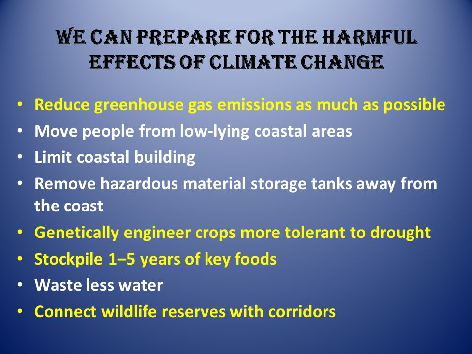 We Can Prepare for the Harmful Effects of Climate Change