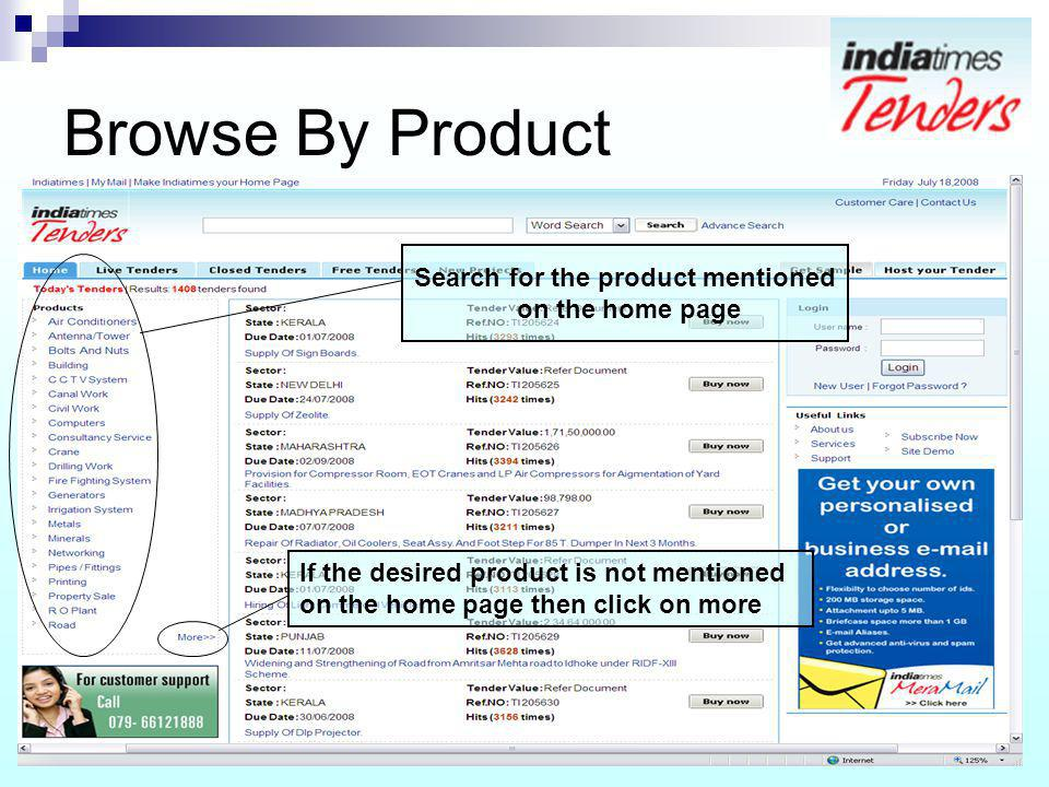 Search for the product mentioned