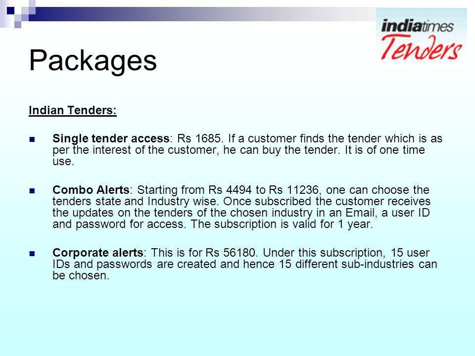 Packages Indian Tenders: